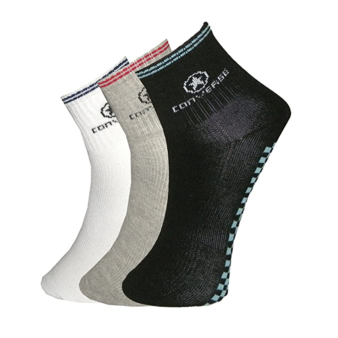 Pack of 3) CONVERSE ALL STAR Mens Thermal Fine Knit Quarter