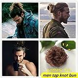 Moreal Elastic Tie Curly Men's Top Knot Half Bun Women Bun Hun Updo Hairpiece