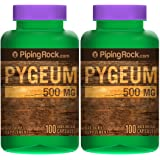 Piping Rock Pygeum 500 mg 2 Bottles x 100 Quick Release Capsules Dietary Supplement