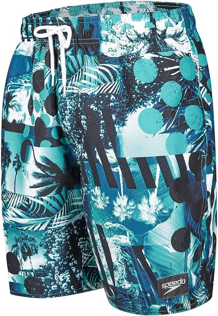 Speedo Printed Leisure Costume da Bagno a Pantaloncino Uomo Blu//Sand