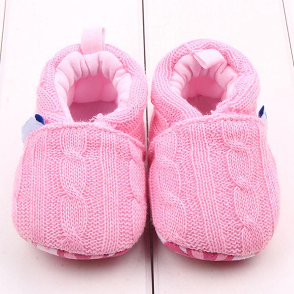 Newborn Crib Shoes,Kimanli Fashion Baby Sneaker Anti-slip Soft Sole Toddler Shoe