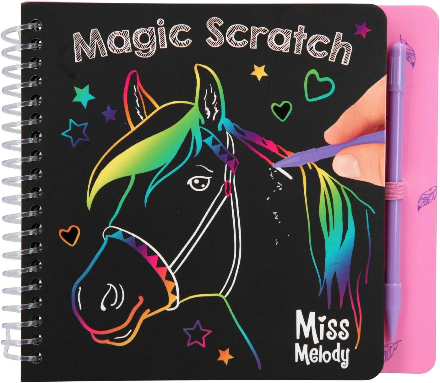 Depesche- Libro para Colorear Magic Scratch Book, Miss Melody, Color carbón (10709)
