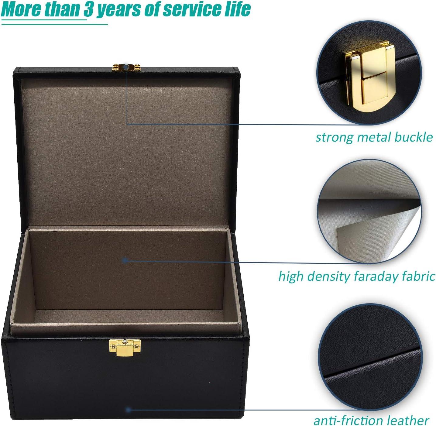 Todoxi Faraday - Caja de bloqueo de señal para llave de coche, sin llave, caja de seguridad, bloqueo de señal RFID grande: Amazon.es: Electrónica