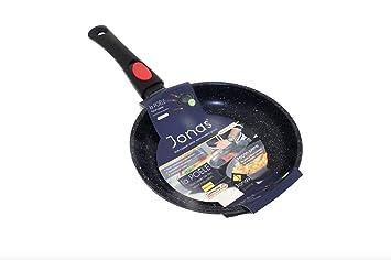 Jonas Sartén Antiadherente Revestimiento Cerámico Greblon C3 Mango Extraíble - Sin PFOA - Inducción, Gas, Eléctrica, Vitrocerámica y Horno - Ideal ...