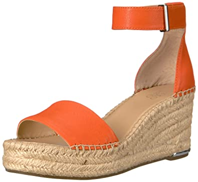 8a42d7ff69c Franco Sarto Women's Clemens Espadrille Wedge Sandal Orange 6.5 M US