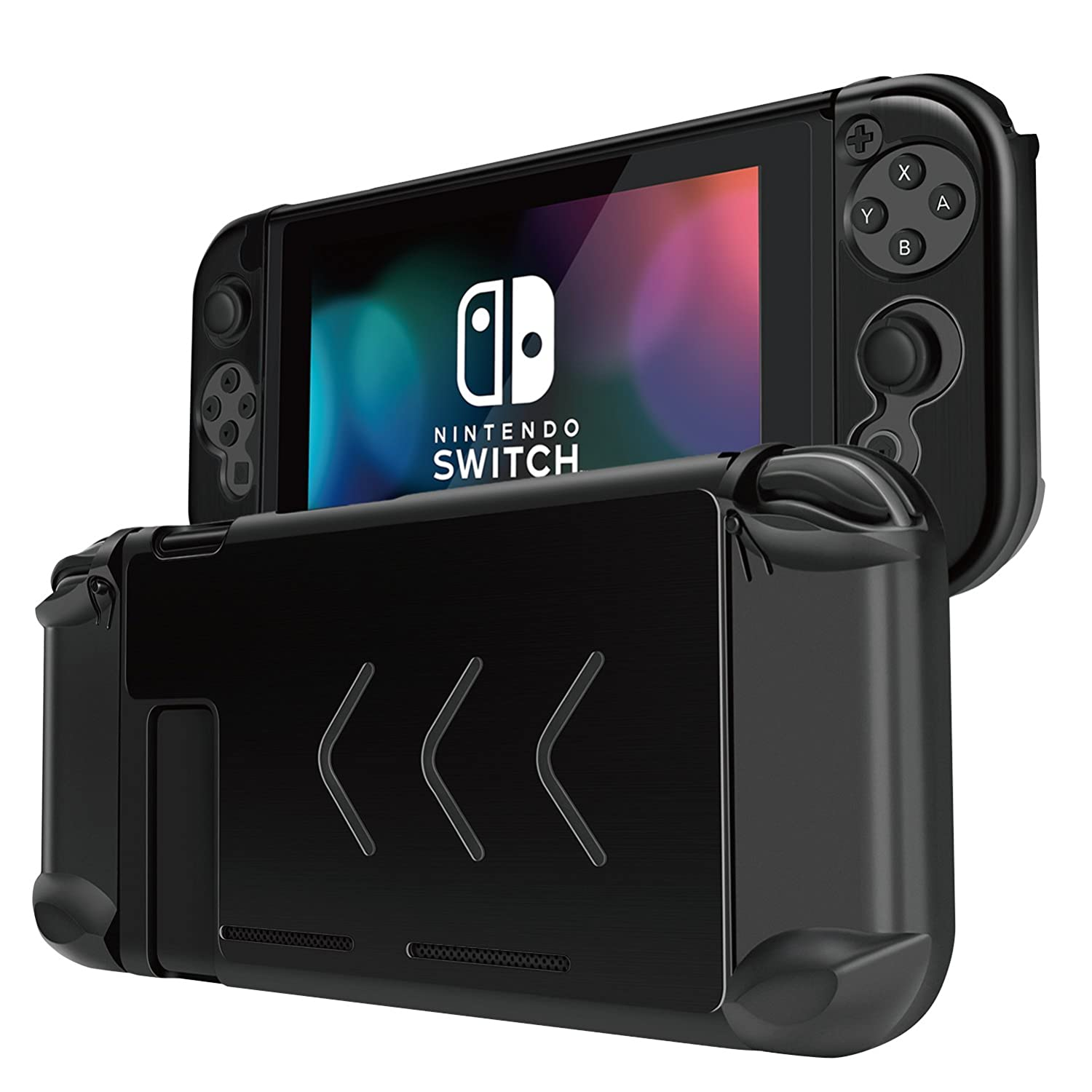 Tnp Case Cover For Nintendo Switch Console & Joy Con Controller   Travel Friendly Aluminum Alloy Hard Shell Protector, Anti Scratch Shockproof Protective Nintendo Switch Accessories (Black) by Tnp Products