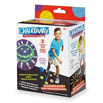 Chalktivity – Creativity in Action – Bouncing Chalk Dot with 3 Powdered Chalk Packs: Toys & Games
