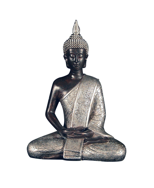 Ten Waterloo 8 inches Tall Thai Buddha Statue, Meditating Peace Harmony Statue by Ten Waterloo