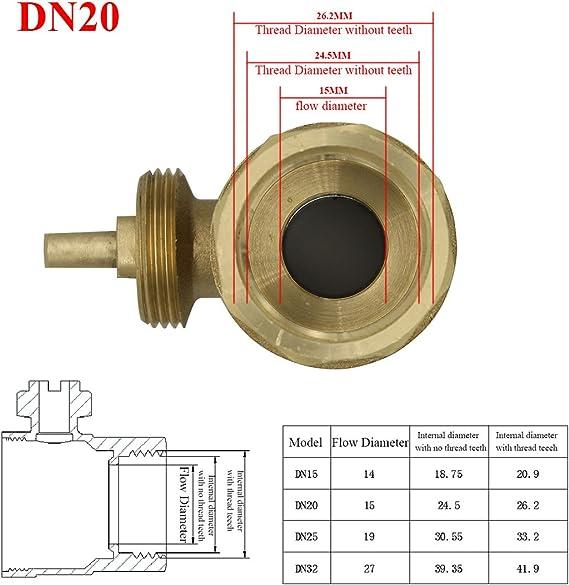 DN 15 DN20 DN25 DN 32 Válvula Motorizada 220V 2 vias Forja de ...