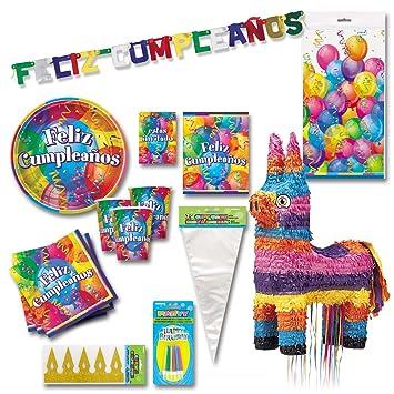 Partygram Set fiesta cumpleaños PG9520003: Amazon.es ...