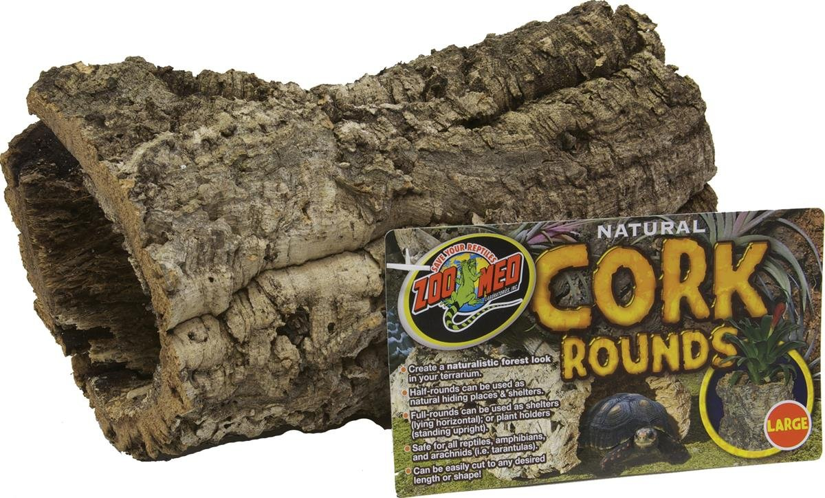 Zoo Med Natural Cork Bark Round, Large by Zoo Med