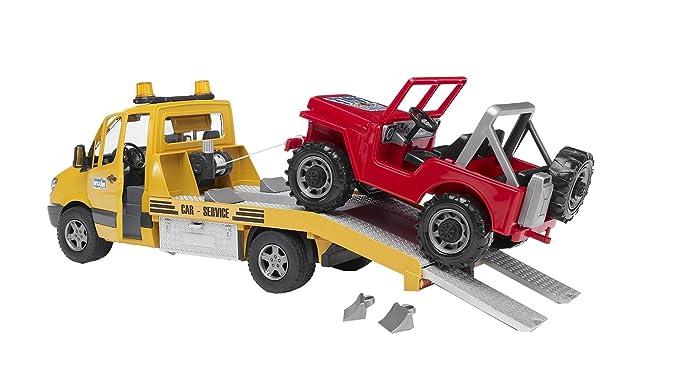 Bruder-02535 Jeep Mercedes Benz, Sprinter grúa con Luces y Sonido (02535): Amazon.es: Juguetes y juegos
