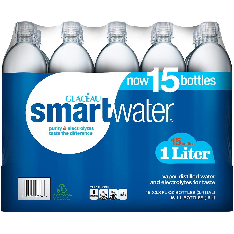 Smart Water Enhanced Water (Pack of 15) 33.8 Fl Oz, 507 fl. oz.