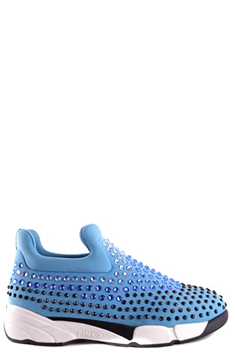 Pinko Slip On Sneakers Donna MCBI242273O Poliestere Azzurro  Amazon.it  Scarpe  e borse 802f0a1fa71