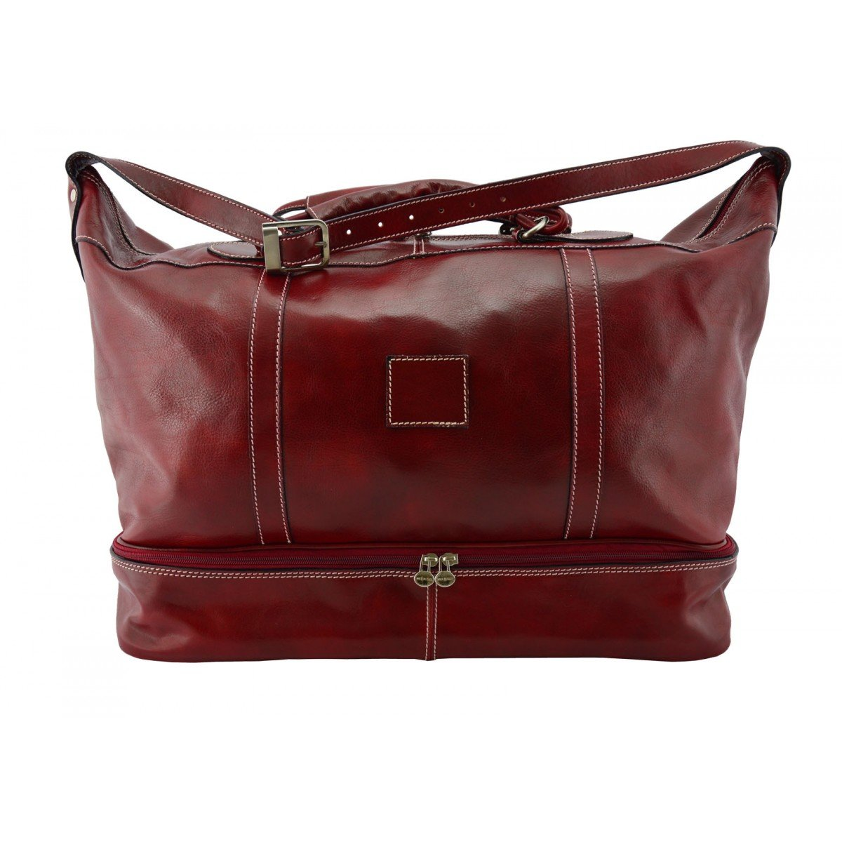 Dream Leather Bags Made in Italy Genuine Leather メンズ US サイズ: 1 カラー: レッド B072MFHJ1P