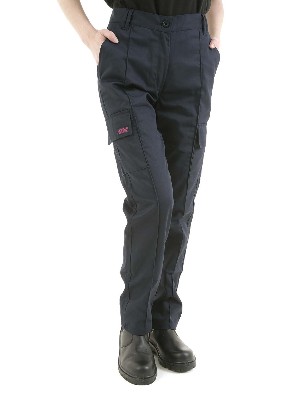 SITE KING Ladies Cargo Combat Work Trousers