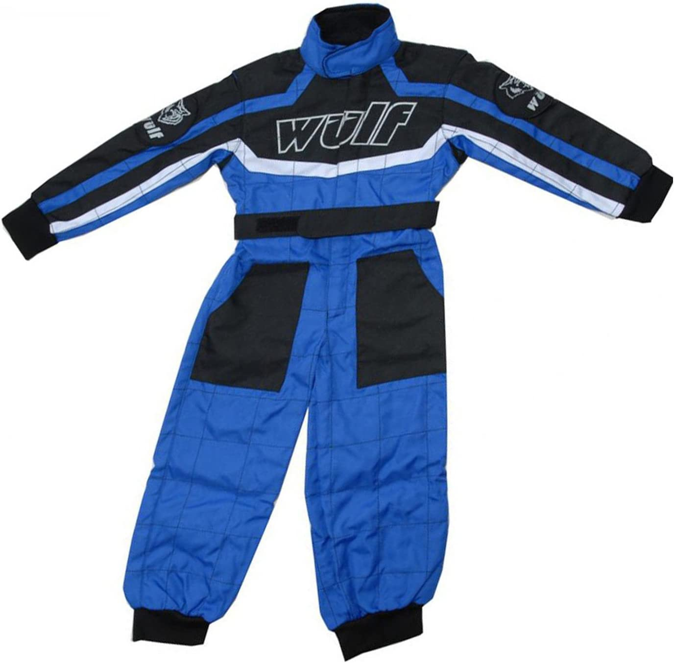 3-4 Yrs Wulfsport Children Kids Race MX Motocross Motorbike Suit Clothing Blue XS