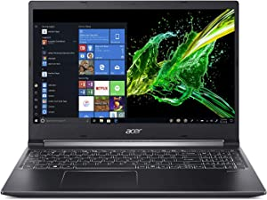 "Acer Aspire 7 Laptop, 15.6"" Full HD IPS Display, 9th Gen Intel Core i7-9750H, GeForce GTX 1050 3GB, 16GB DDR4, 512GB PCIe NVMe SSD, Backlit Keyboard, A715-74G-71WS"