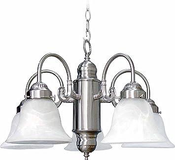 Volume Lighting V4323-33 Chandelier Brushed Nickel Finish