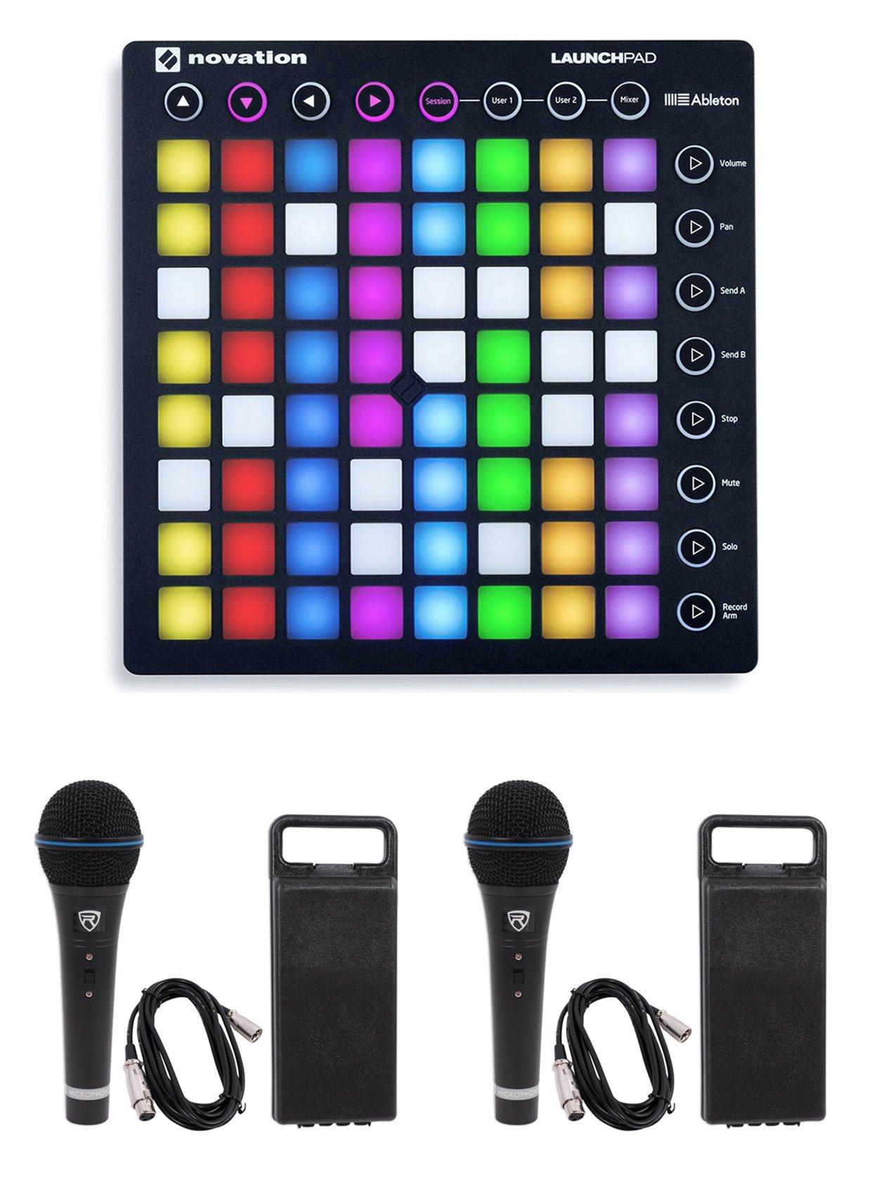 Novation LAUNCHPAD S MK2 MKII MIDI USB RGB DJ Controller Pad+(2) Microphones by Novation