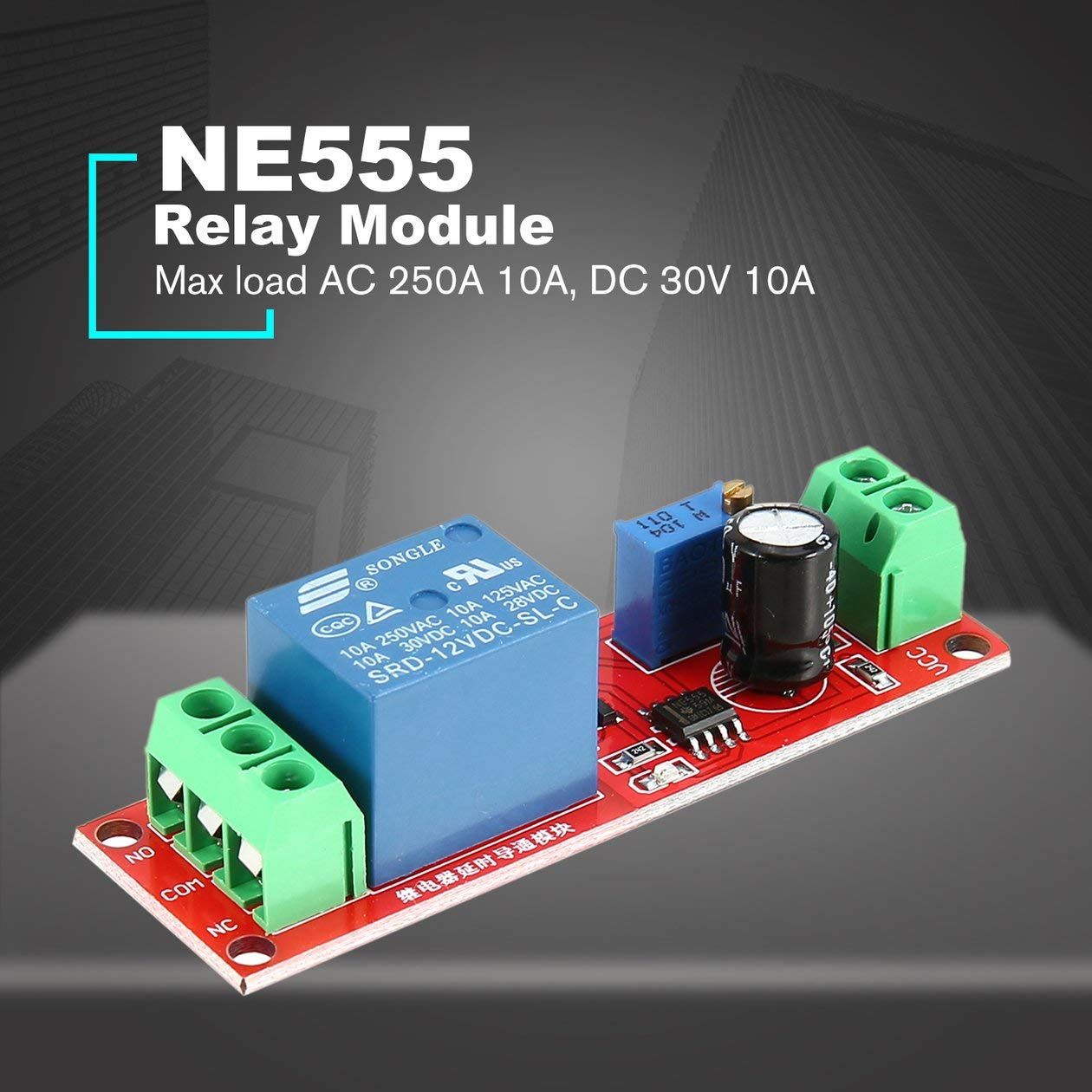 Dc 12v Ne555 Monostable Delay Relay Circuit Conduction Module 555 Timer Time Trigger Switch Adjustable Shield Electronics Arduino