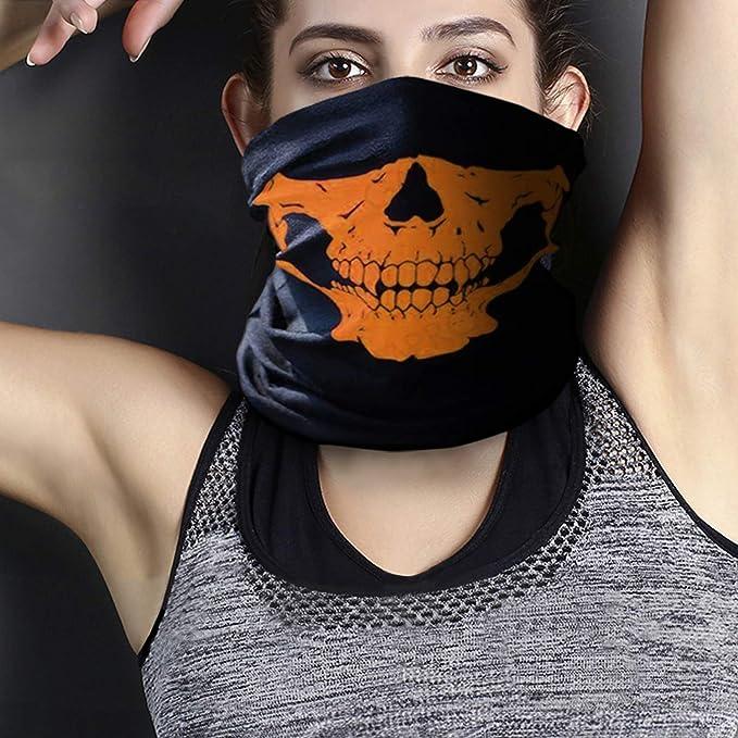 Gesichtsmaske Multifunktionstuch Damen Herren Drucken Elastische Halstuch Nahtlose Sturmhaube Sturmmaske Schlauchtuch f/ür Yoga Laufen Wandern Radfahren Motorradfahren von TWBB