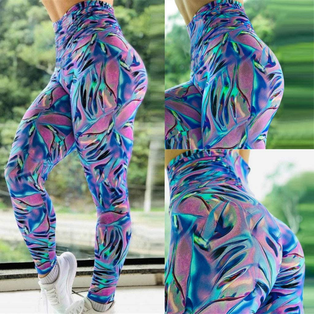 Excursion Sports Gym Pants for Women High Waist Butt Lifting Yoga Tights Trousers Lightweight Fabric Leggings for Running