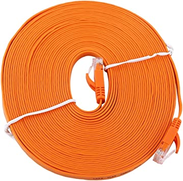 Denash Cable LAN, RJ45 CAT6 Red Ethernet Cable Plano de Ethernet 1000Mbps UTP Patch Router blindado Cables de enrutador, Naranja (múltiples Longitudes Disponibles)(10m): Amazon.es: Electrónica