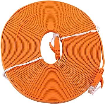 Denash Cable LAN, RJ45 CAT6 Red Ethernet Cable Plano de Ethernet 1000Mbps UTP Patch Router blindado Cables de enrutador, Naranja (múltiples Longitudes Disponibles)(10m): Amazon.es: Electrónica