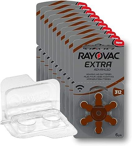 60 X Rayovac Extra Advanced Size 312 10x Blister Pack Elektronik