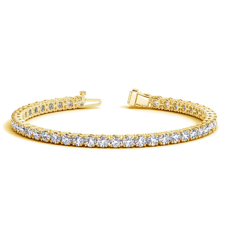 3 Carat Classic Diamond Tennis Bracelet 14K Yellow Gold Value Collection by Houston Diamond District