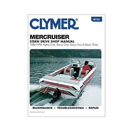 amazon com clymer mercruiser alpha one brave one two three rh amazon com Mercruiser 3 0 Engine Manual Mercruiser 3.0 Manual PDF