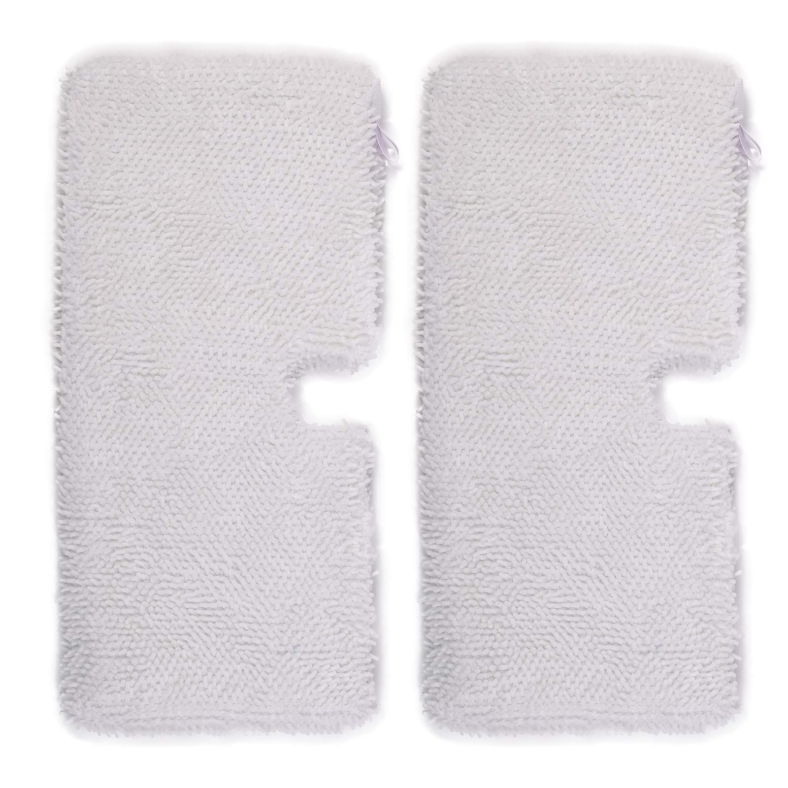 Flammi 2-Pack Replacement XL Large Microfiber Steam Mop Cleaning Pads for Shark Steam Pocket Mops S3501 XLT3501 S3601 (White)
