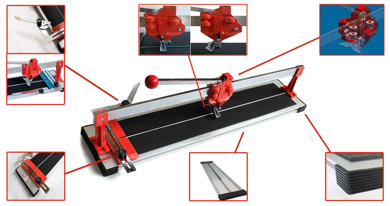 Fliesenschneider 1000 mm Schneidmaschine Kugellagerung Fliesenschneidmaschine
