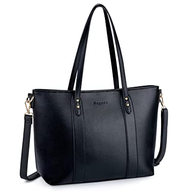 ac5928fdb Amazon.com  Bageek Tote Bags for Women Pu Leather Tote Purses Black Purses  and Handbags Women Classic Tote Work Bag  Shoes