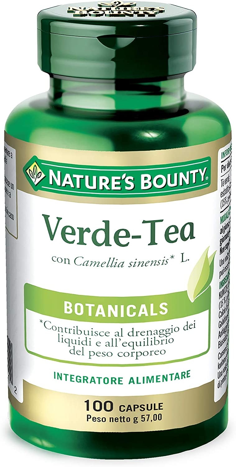 Nature's Bounty Green Tea Pills and Herbal Health Supplement, Supports Heart and Antioxidant Health, 315mg, 100 Capsules: Health & Personal Care