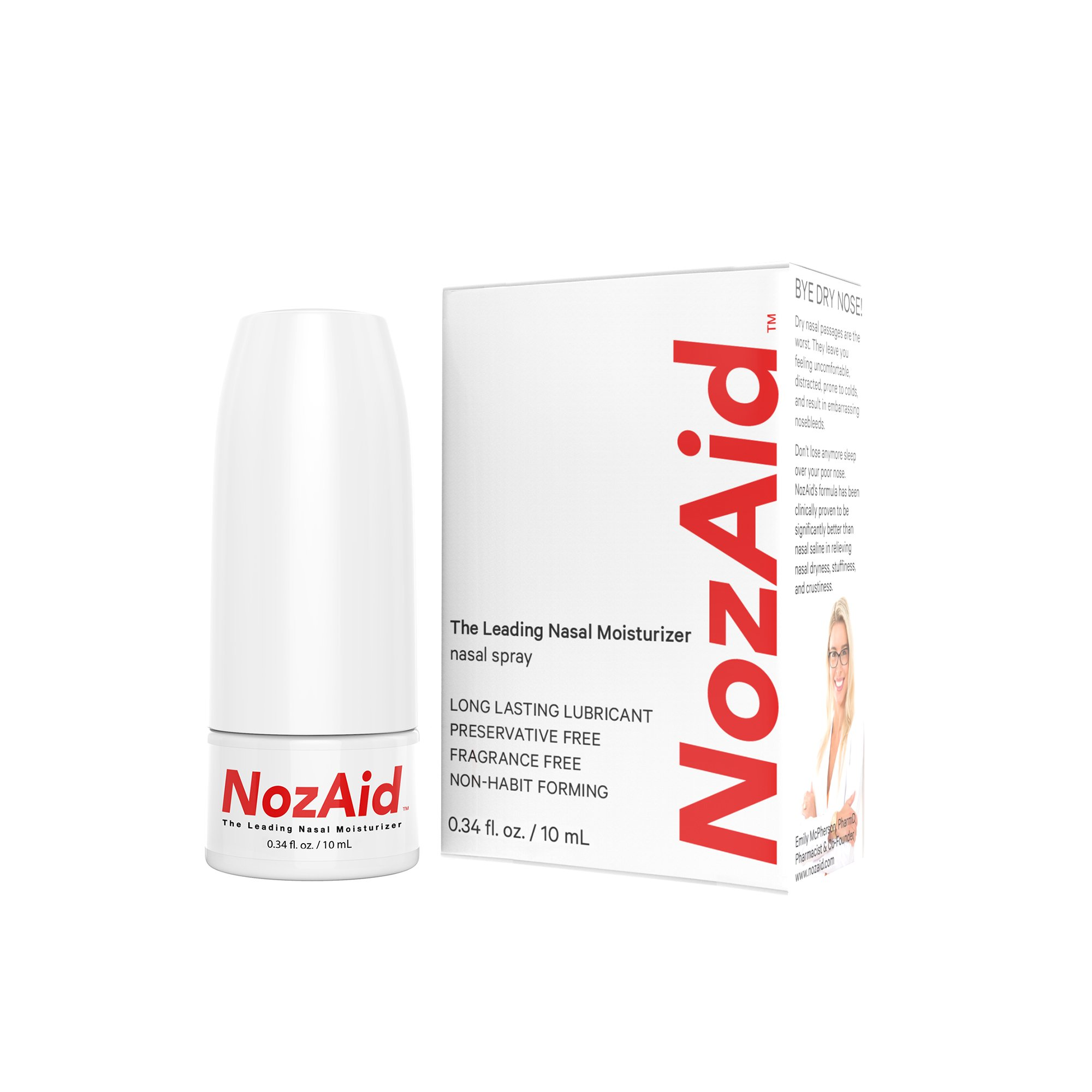 Nasal Spray Moisturizer with Sesame Oil .34 Ounce - Moisturizing Lubricant for Dry, Crusty, Cracked, Stuffy Nose Relief, Nosebleeds, Clear Breathing - Fragrance and Preservative Free by NozAid by NozAid (Image #2)