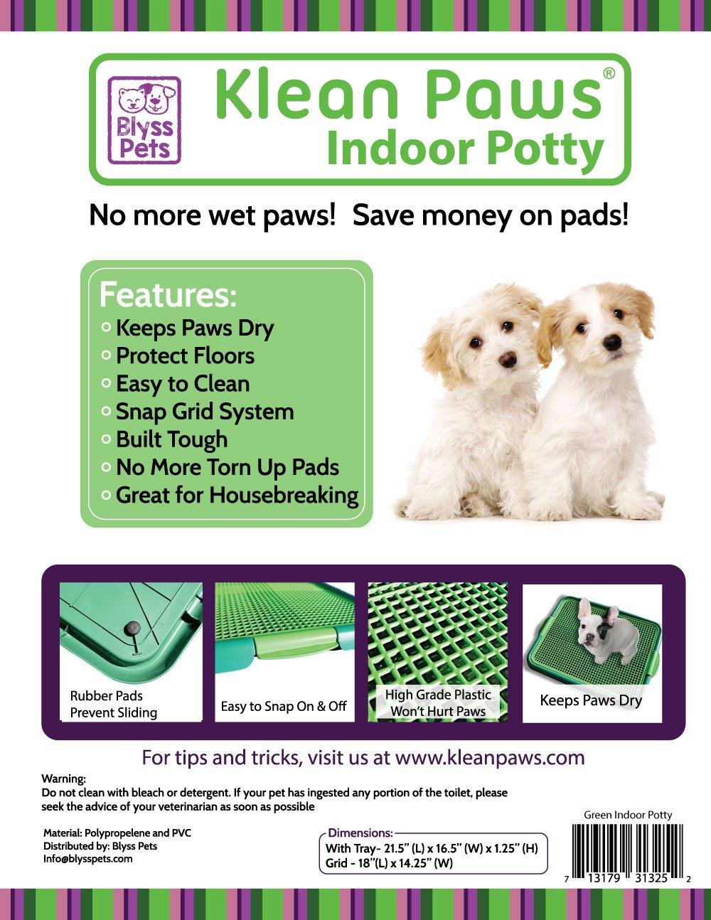 Amazon.com : Klean Paws Indoor Dog Potty, No Torn Potty Pads! Keep ...