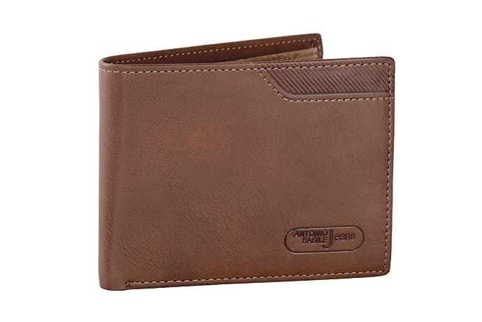 Mini cartera hombre ANTONIO BASILE marrón porta tarjetas de credito y monedero: Amazon.es: Ropa y accesorios