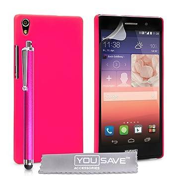 Yousave Accessories® Huawei Ascend P7 funda Rosa carcasa ...