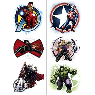 Avengers Temporary Tattoos (2 Pack): Toys & Games