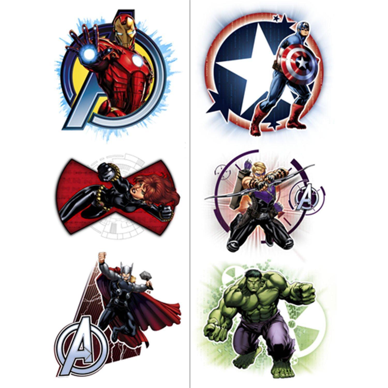 Avengers Temporary Tattoos (2 Pack): Amazon.es: Juguetes y juegos