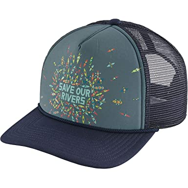 Patagonia Hats Save Our Rivers Interstate Trucker Cap - Navy Blue  Adjustable  Amazon.co.uk  Clothing b3ab461a8ec4