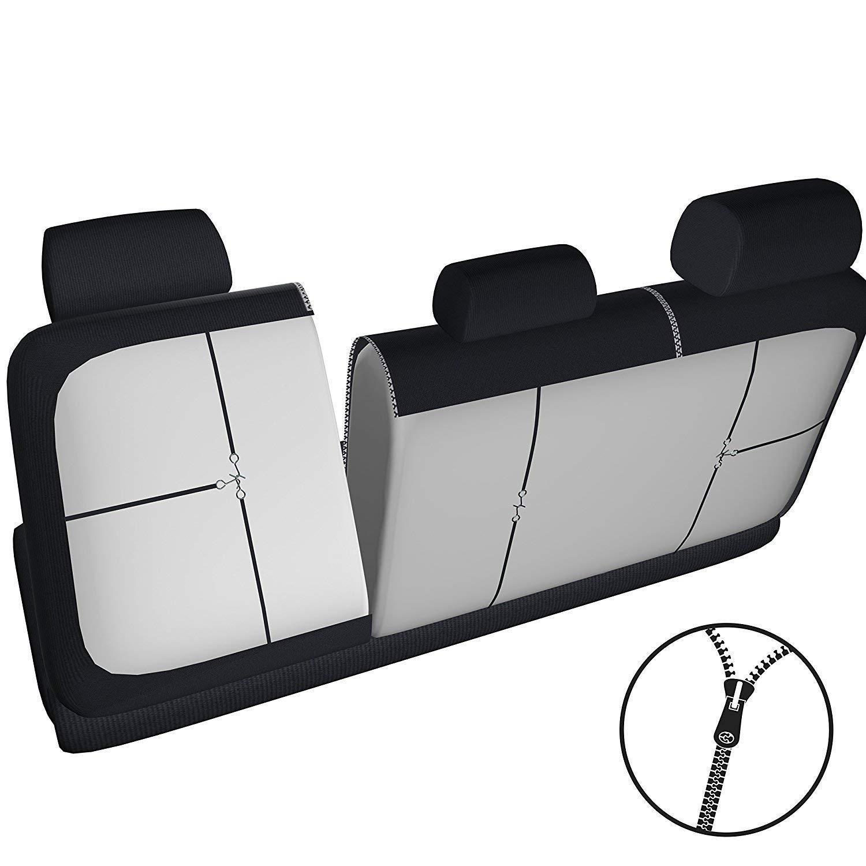 RMG R02IT078 coprisedili compatibili per 500 L fodere auto R02 rossi neri per sedili con airbag braciolo e sedili sdoppiabili