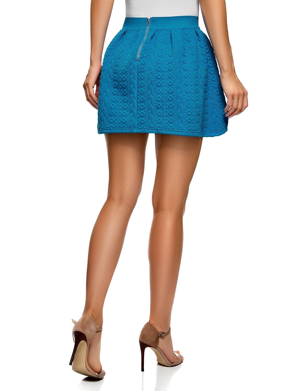 oodji Ultra Mujer Falda de Tejido Texturizado con Cinturón Elástico: Amazon.es: Ropa y accesorios