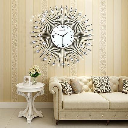 Amazon Com Neotend 3d Wall Clock 64pcs Diamonds Decorative Clock