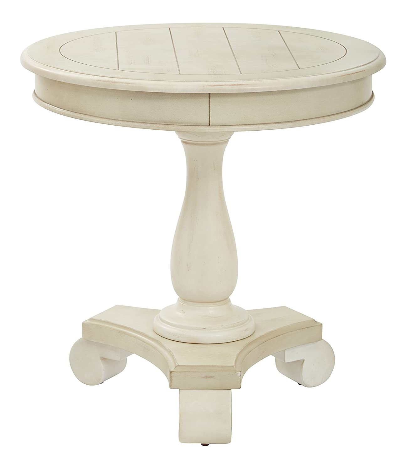 Delicieux Amazon.com: INSPIRED By Bassett Avalon Round Accent Table, Antique Beige:  Kitchen U0026 Dining