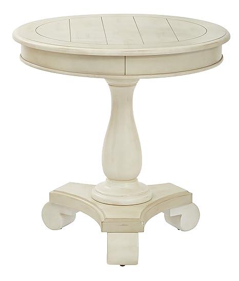 Astonishing Inspired By Bassett Avalon Round Accent Table Antique Beige Machost Co Dining Chair Design Ideas Machostcouk