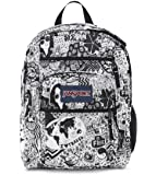Jansport Big Student Backpack (White/Black Free Spirit)