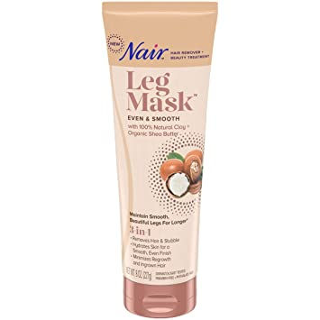 Nair Hair remover & beauty treatment, leg mask, even and smooth shea butter, 8 Ounce